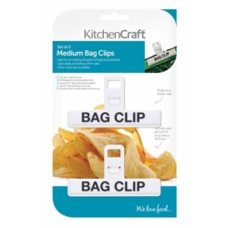 KitchenCraft Plastic Bag Clip - Medium 2 Piece
