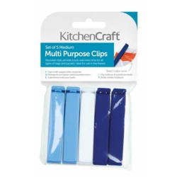 KitchenCraft Multi Purpose Clips - Medium 5 Piece
