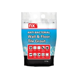NC Anti-Bac Wall and Floor Tile Grout Steel Grey 2.5kg