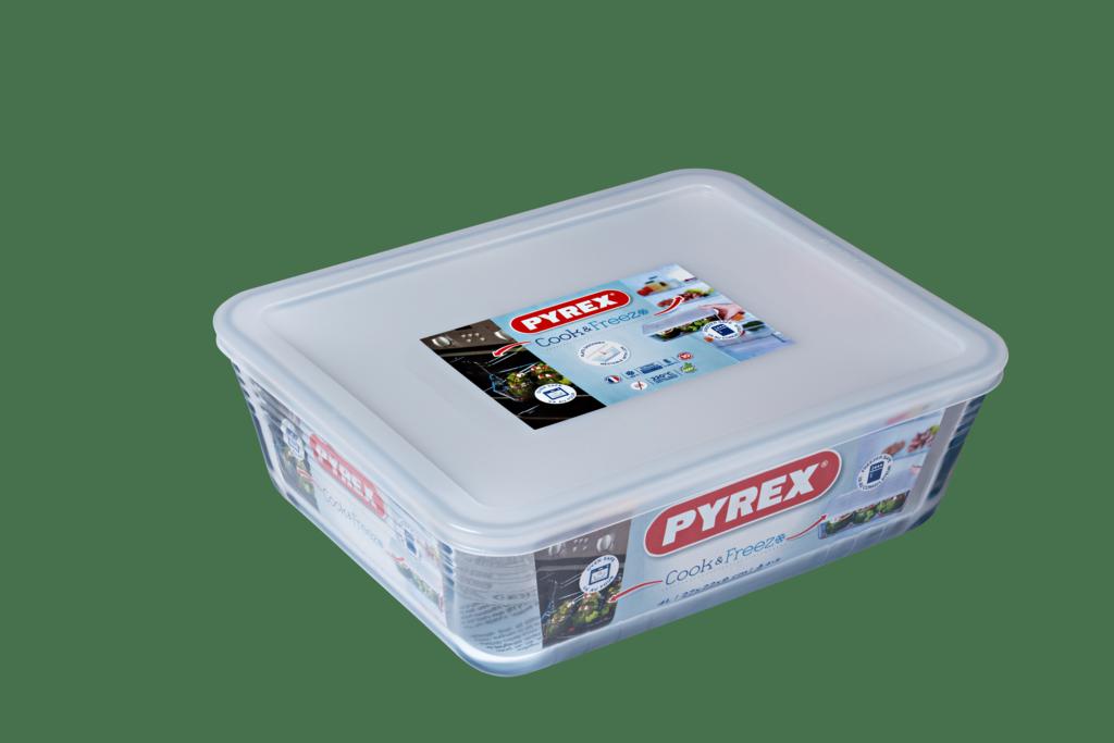 Pyrex Rectangular Dish With Lid - 4L