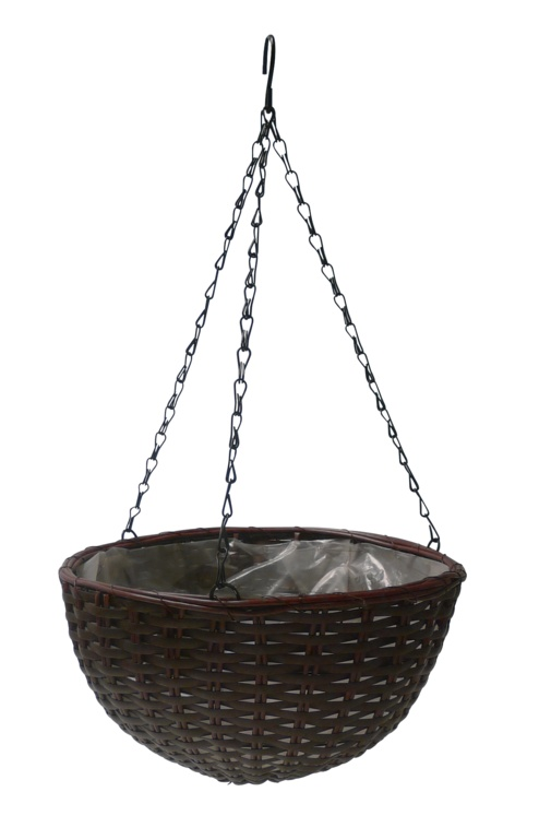 "Ambassador Polyrattan Hanging Basket - 12"""