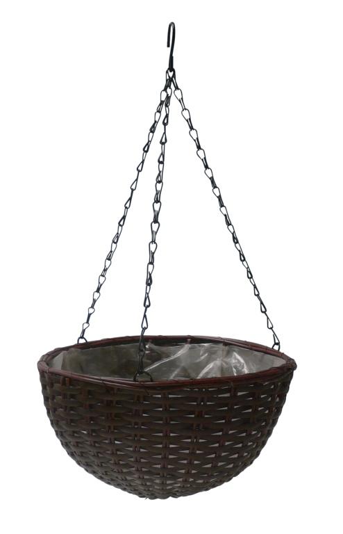 "Ambassador Polyrattan Hanging Basket - 16"""