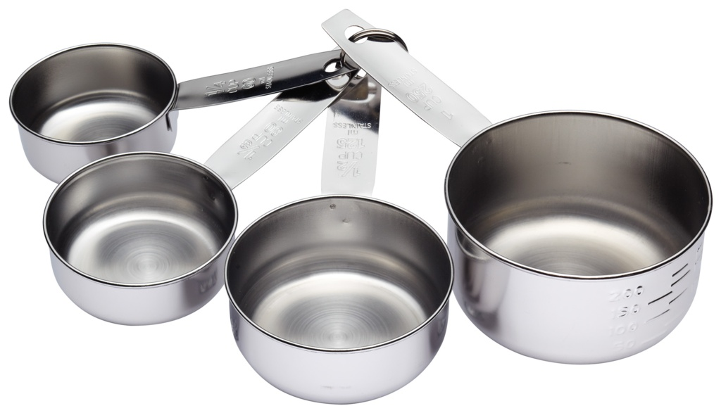 KitchenCraft Stainless Steel Measuring Cup Set - 4 Piece