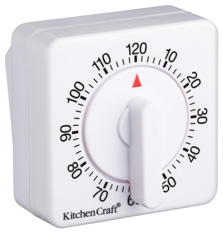 KitchenCraft Mechanical Timer - 120 Minute White