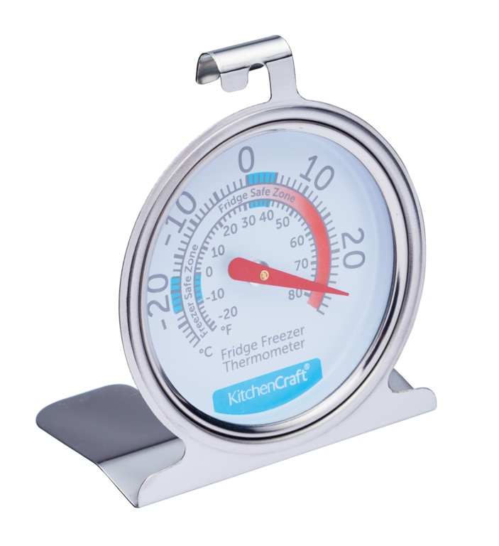 KitchenCraft Stainless Steel Fridge Thermometer - 7cm
