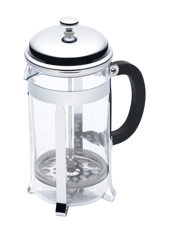 Le'Xpress Chrome Plated Cafetiere - 8 Cup