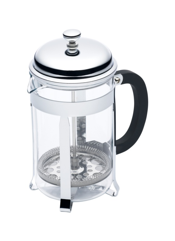 Le'Xpress Chrome Plated Cafetiere - 6 Cup