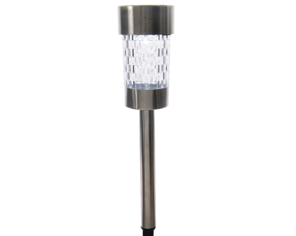 Lumineo LED Solar Stainless Steel Garden Light - Cool White