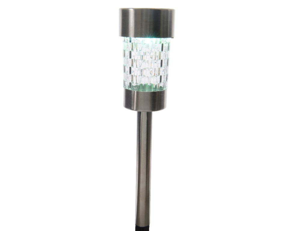Lumineo LED Solar Stainless Steel Garden Light - Colour Changing