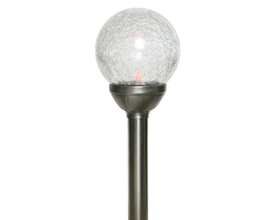 Lumineo LED Solar Crackle Glass Ball Colour - 1 coloured changing light