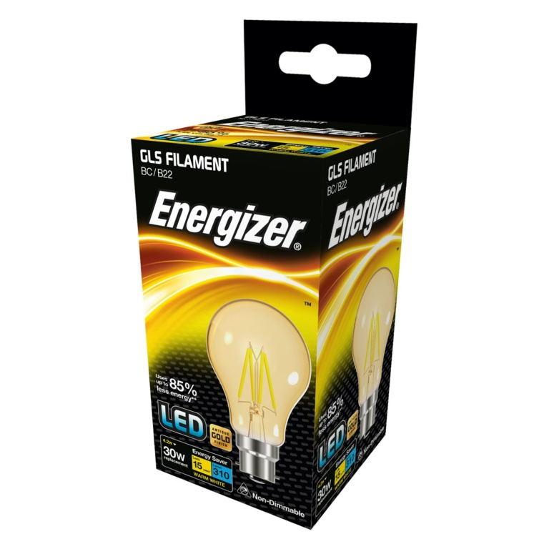 Energizer Filament LED Lamps B22 310lm - 4.2W
