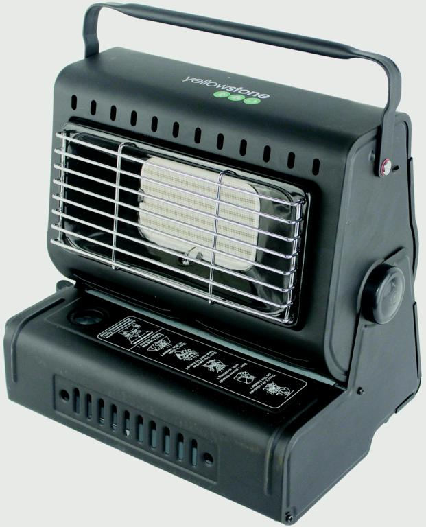 Yellowstone Portable Gas Heater - Black