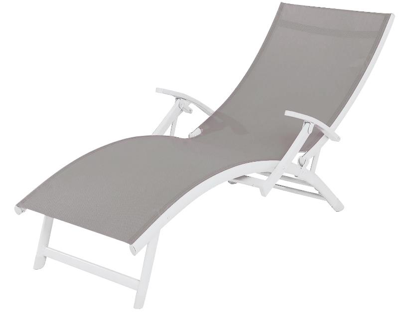 SupaGarden 4 Position Textilene Sun Lounger - With Armrests