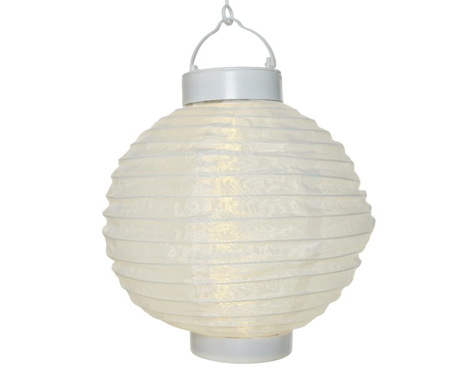Lumineo LED Solar Round Lantern - White