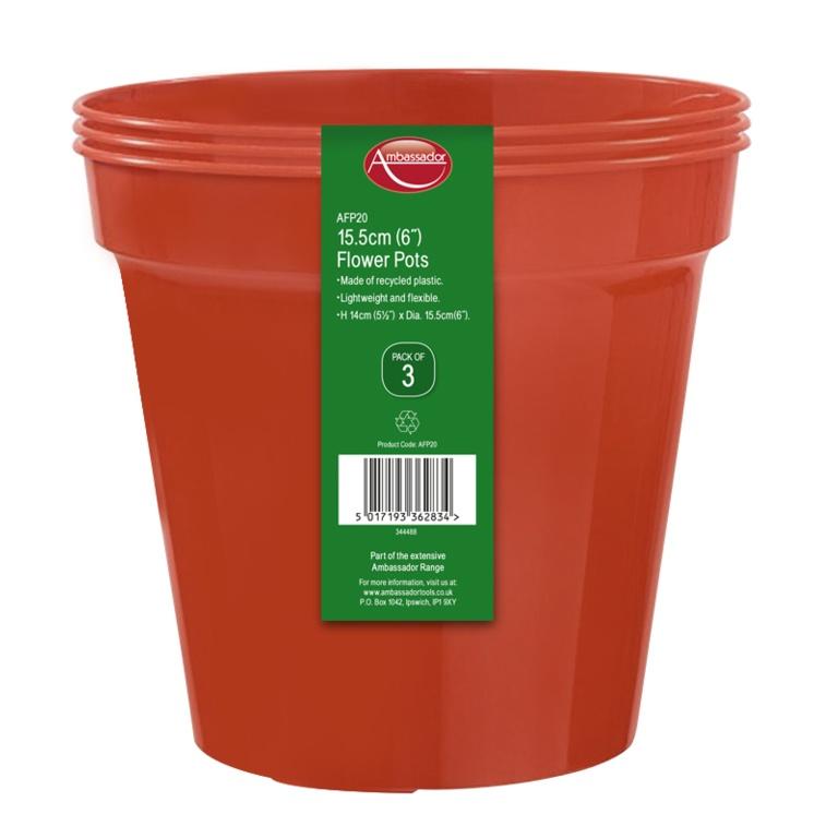 """Ambassador Flower Pots - 3"""" - Pack 10"""