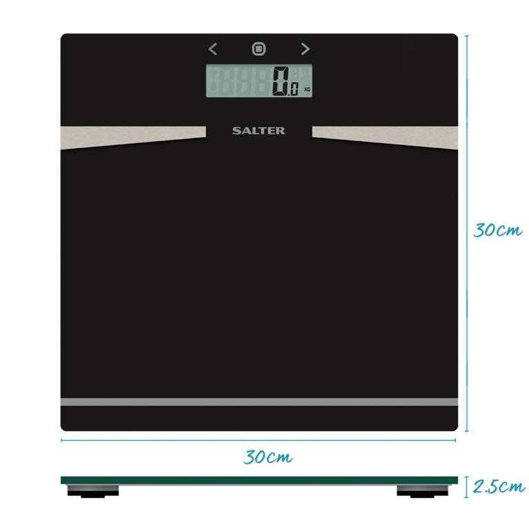 Salter Glass Analyser Scale - Black