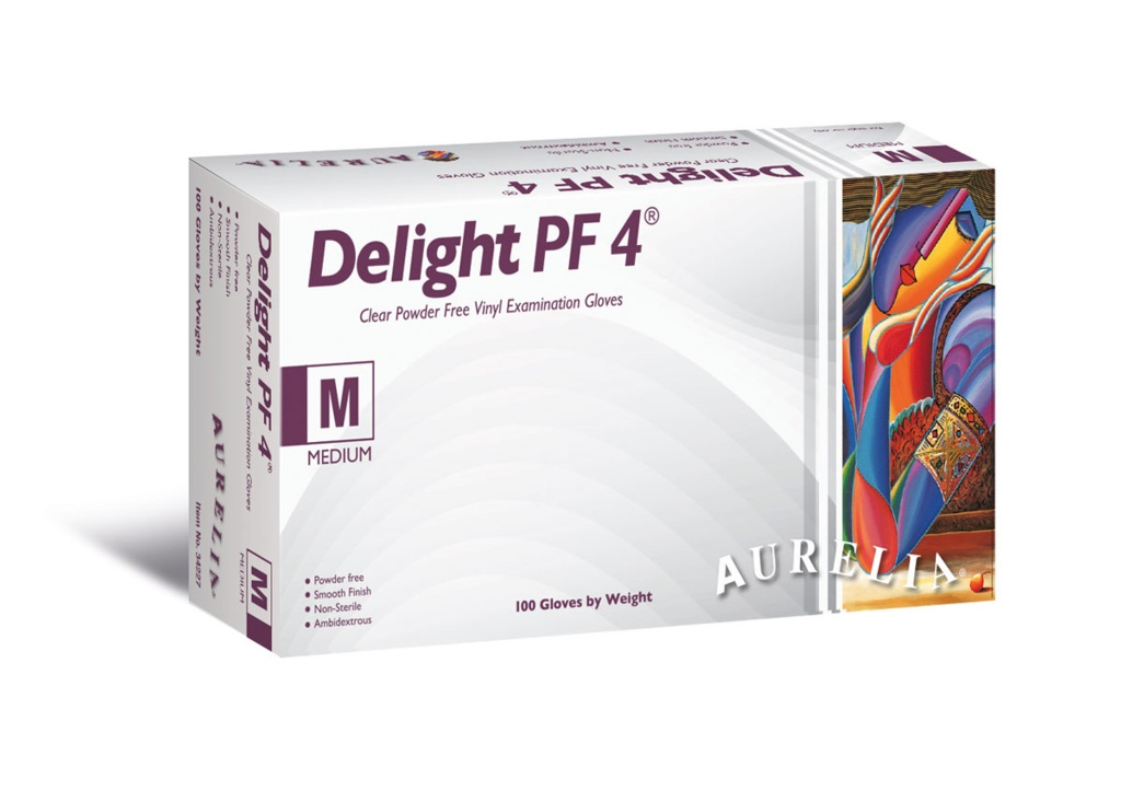 Aurelia Delight PF 4 Disposable Gloves - Large - 100 of Pack