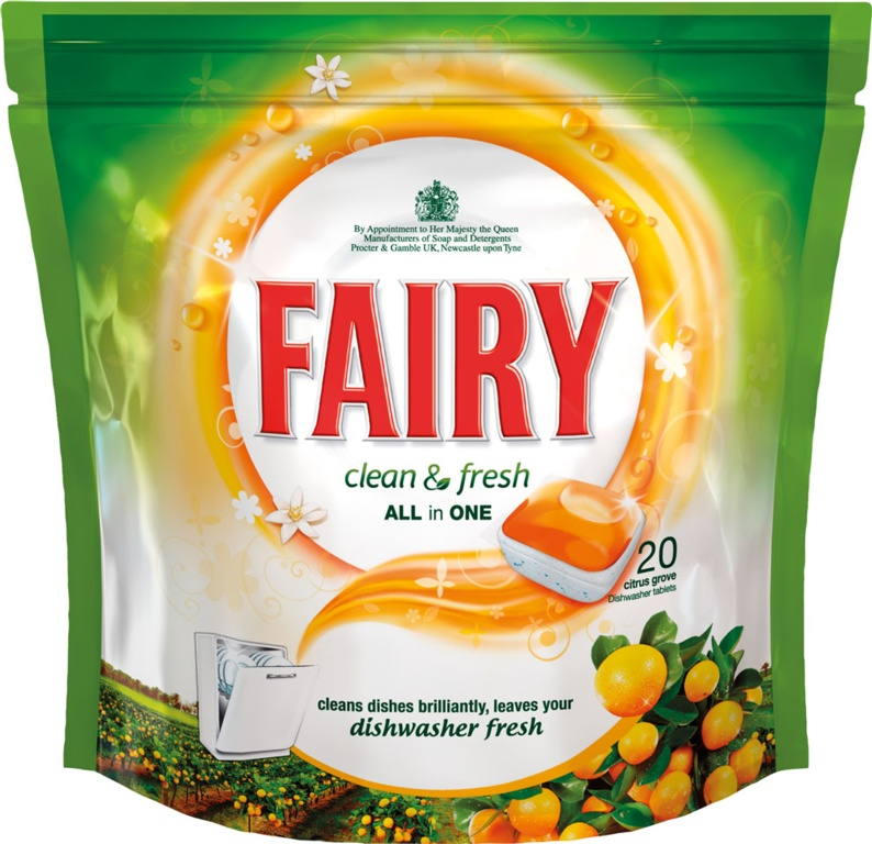 Fairy Clean & Fresh All In One Dishwasher Tablets - Orange Pack 20