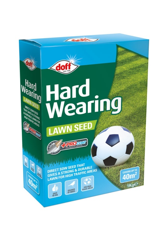 Doff Hardwearing Lawn Seed With Procoat - 1kg
