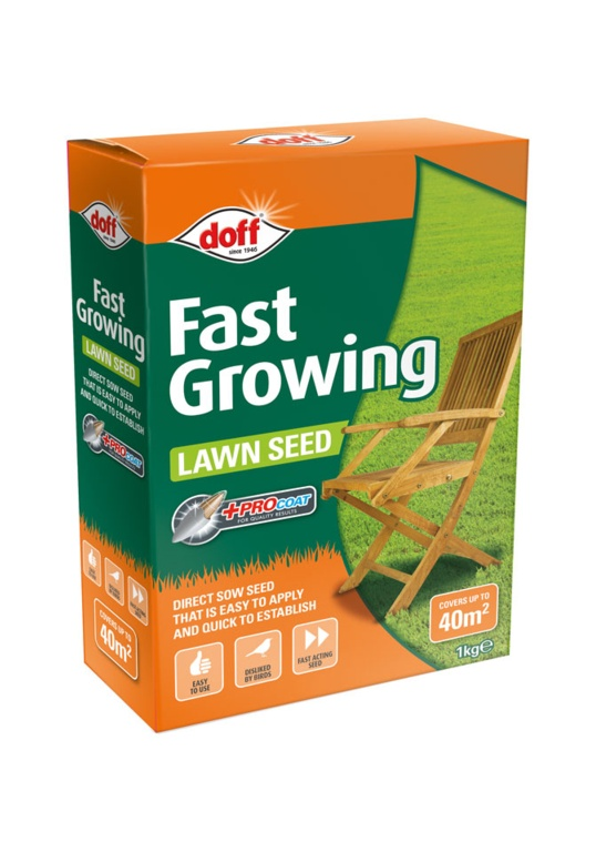 Doff Fast Acting Lawn Seed With Procoat - 1kg