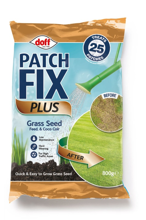 Doff Patch Fix Plus Grass Seed, Feed & Coco Coir - 800g