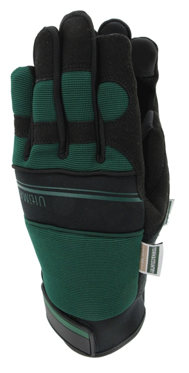 Town & Country Deluxe Ultimax Green Mens Gloves - Medium