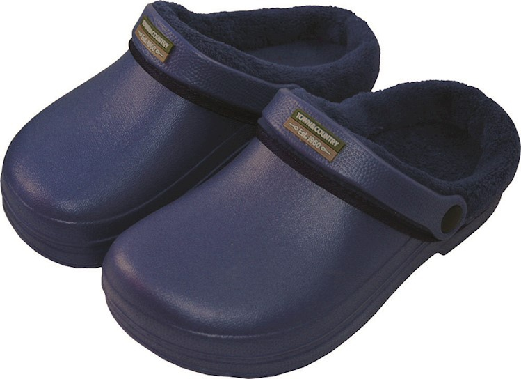 Town & Country Fleecy Cloggies Navy - Size 8