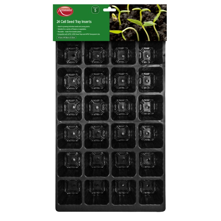 Ambassador Seed Tray Inserts Pack 5 - 24 Cell