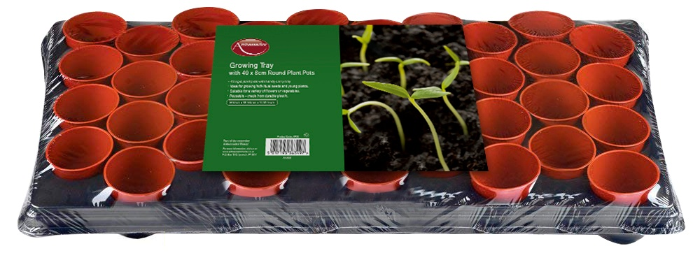 Ambassador Growing Tray - With 40 Round Pots