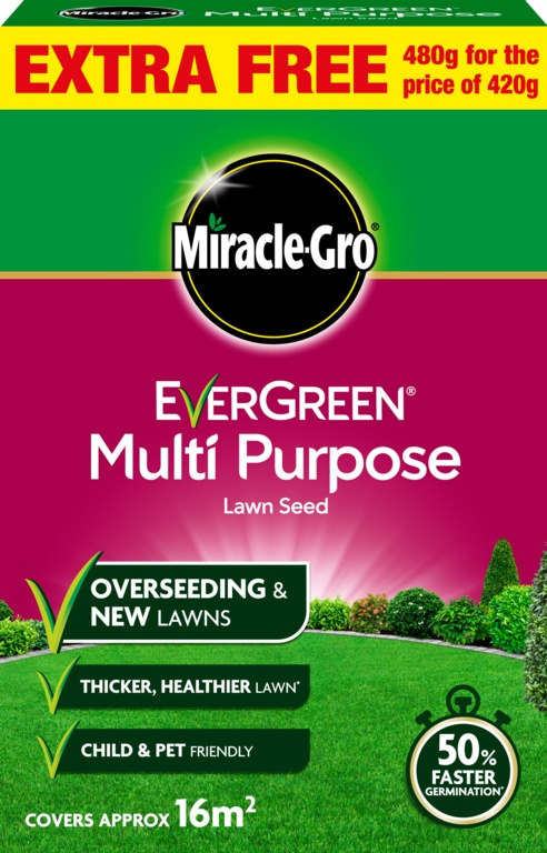 Miracle-Gro Multi Purpose Grass Seed Promo - 480gm Value Pack