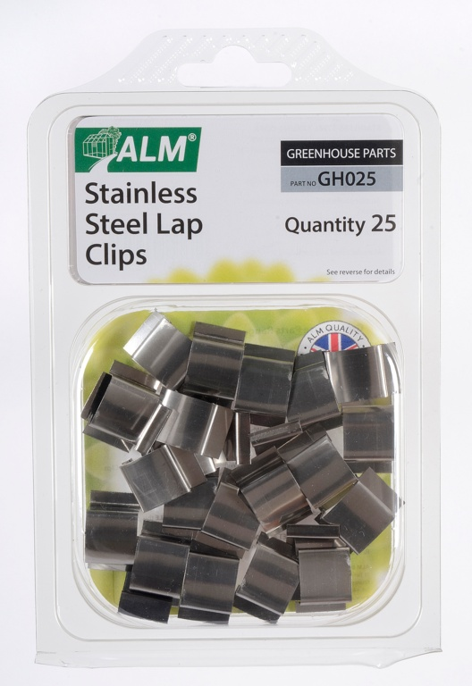 ALM Sprung Glazing Lap Clips - Stainless Steel