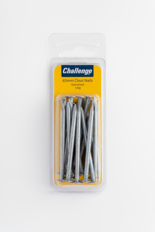 Challenge Galvanised Clout Nails - 65mm