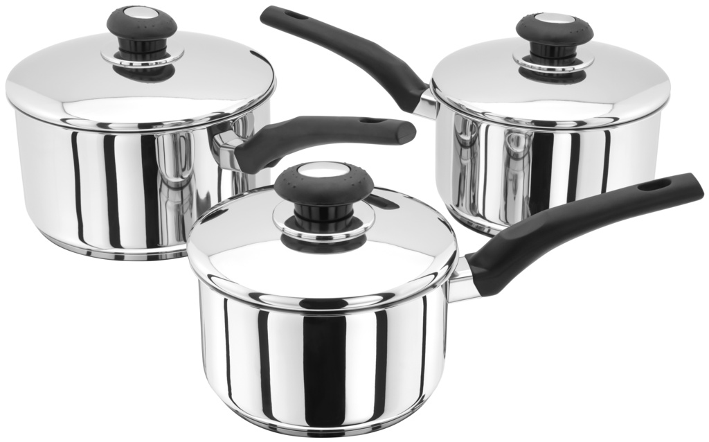 Judge Essentials Saucepan Set - 3 Piece