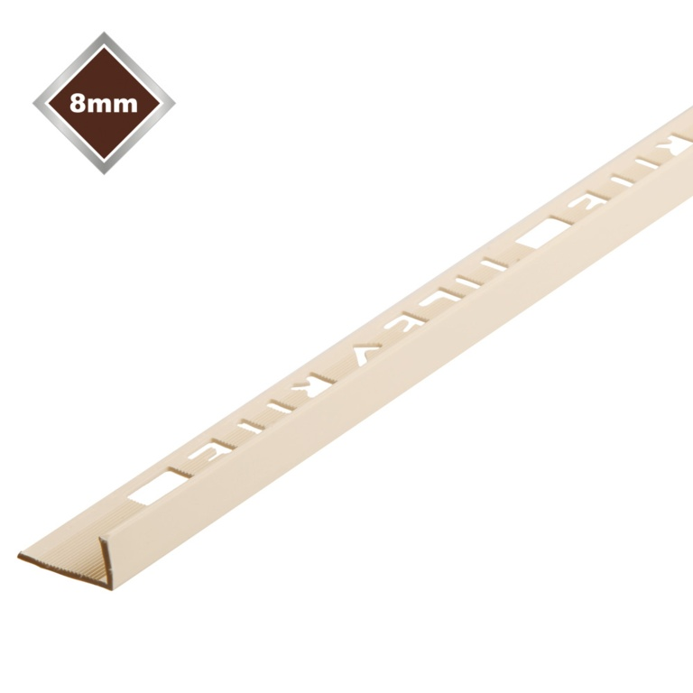 Tile Rite 8mm L Profile PVCTile Trim - Soft Peach