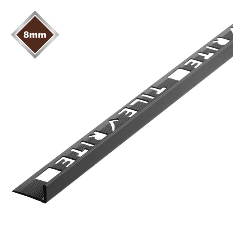 Tile Rite 8mm L Profile PVC Tile Trim - Black