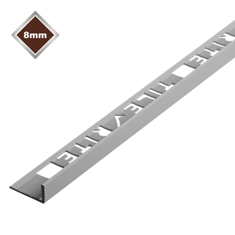 Tile Rite 8mm L Profile PVC Tile Trim - Grey