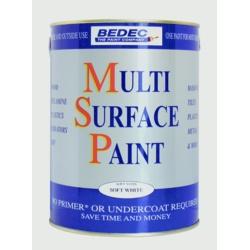 Bedec Multi Surface Paint Satin Light Grey 750ml
