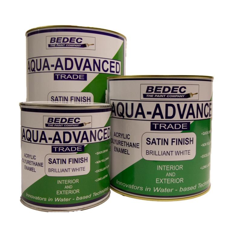 Bedec Aqua Advanced Satin 2.5L - Brilliant White