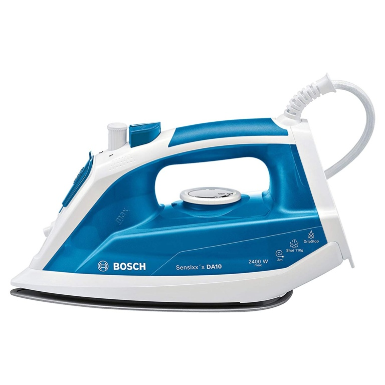 Bosch 2400w Sensixx Iron - White & Blue