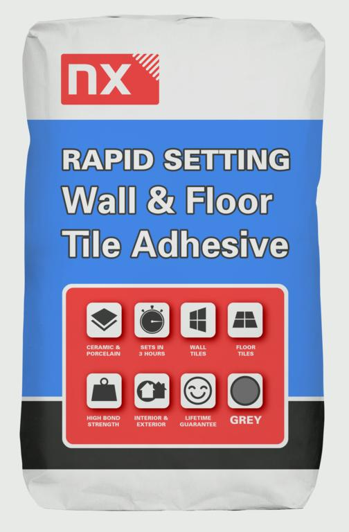 Norcros NX Rapid Set Adhesive For Tiles - 20kg