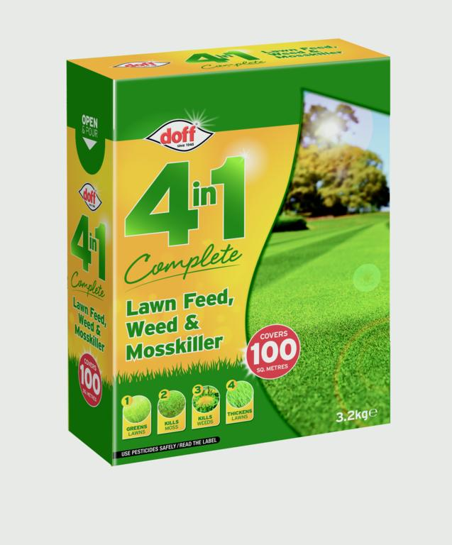 Doff 4 In 1 Complete Lawn Feed, Weed & Mosskiller - 3.5kg