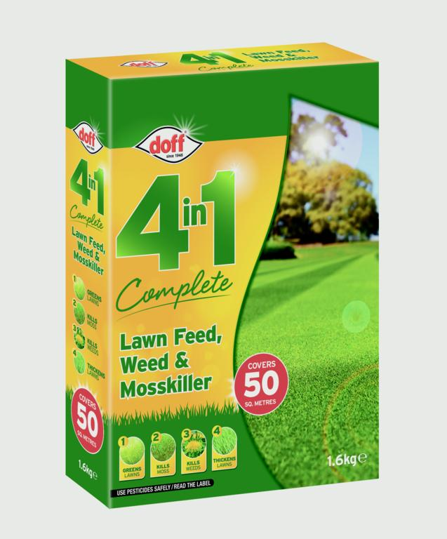 Doff 4 In 1 Complete Lawn Feed, Weed & Mosskiller - 1.75kg