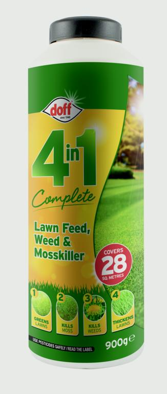 Doff 4 In 1 Complete Lawn Feed, Weed & Mosskiller - 1kg