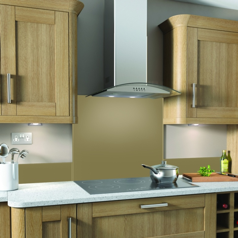 SP Glass Splashback 600 x 750mm - Cappuccino