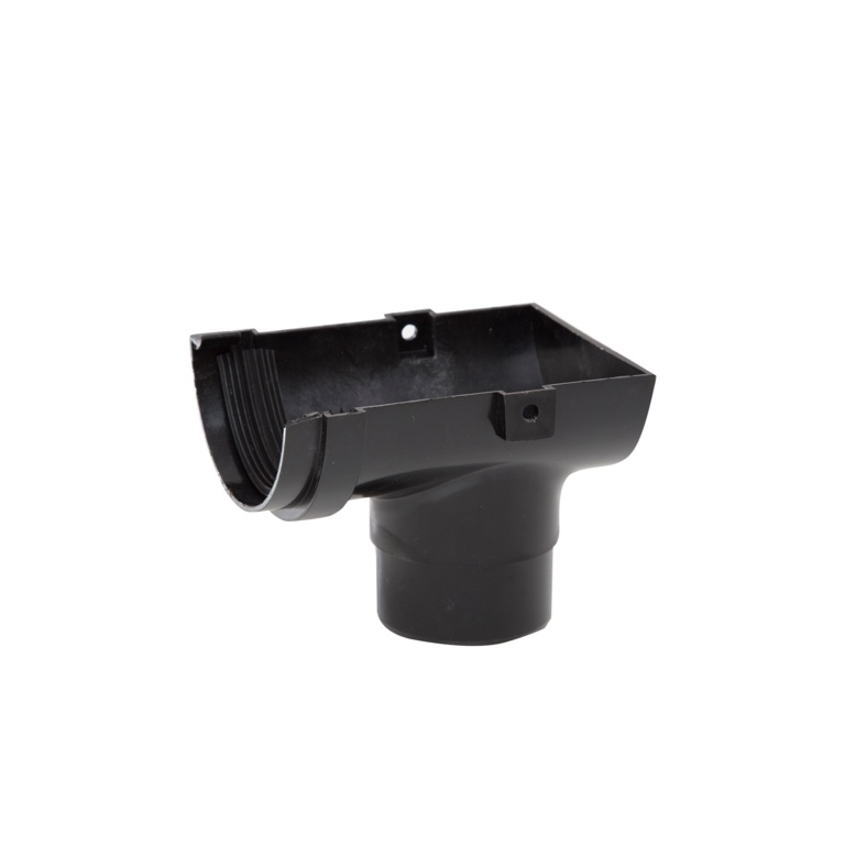 Polypipe Mini H/R Gutter Stop End 75mm - Black