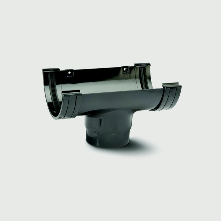 Polypipe Mini H/R Gutter Running Outlet 75mm - Black