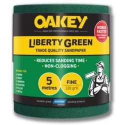 Oakey Liberty Green Sanding Roll 5m