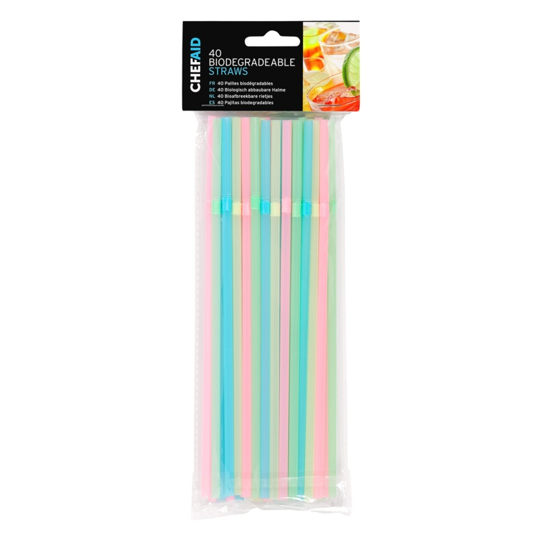 Chef Aid Biodegradable Straws - Pack 40