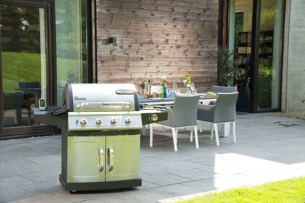 Landmann Miton PTS 4.1 Burner Gas Barbecue - Stainless Steel