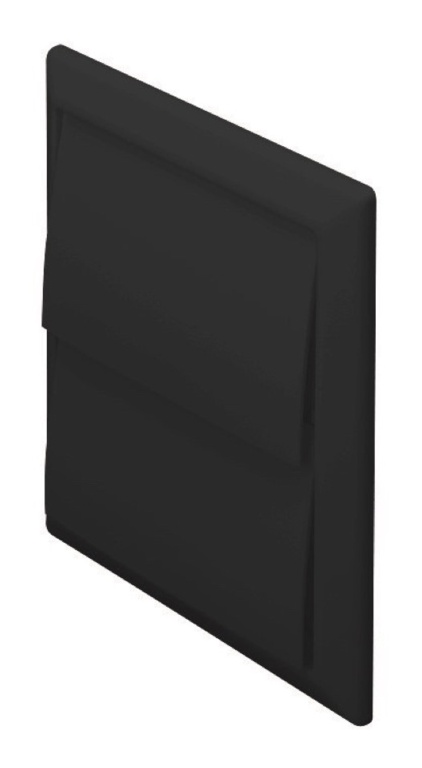 Make Outlet with Gravity Flaps Black - 100mm